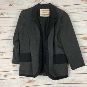 Anthropologie Cartonnier Open Blazer Size 12 Gray